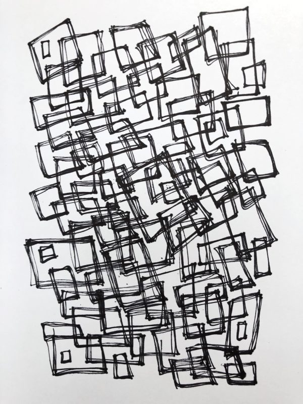 Kimberly Kradel, Corners I, Sketchbook, 2019