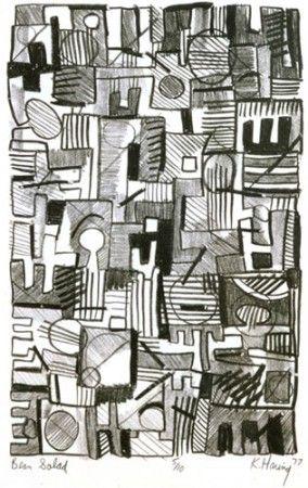 Keith Haring :: Bean Salad 1977
